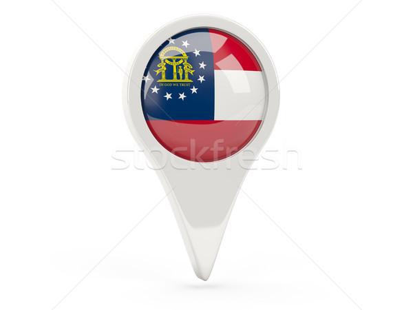 Bandera pin Georgia Estados Unidos local banderas Foto stock © MikhailMishchenko