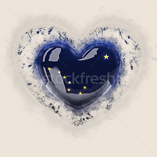 alaska state flag on a grunge heart. United states local flags Stock photo © MikhailMishchenko