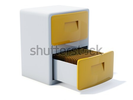 archive cabinet icon Stock photo © MikhailMishchenko