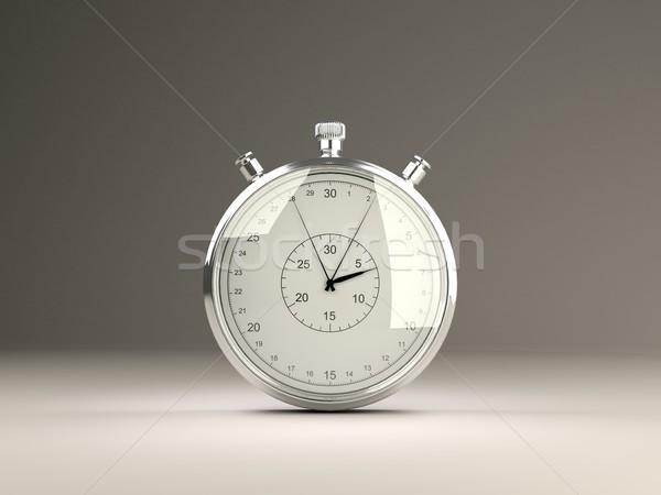 Yalıtılmış kronometre gri saat zaman izlemek Stok fotoğraf © MikhailMishchenko