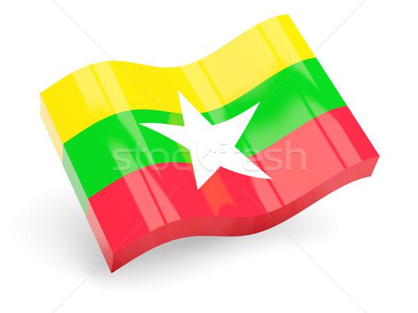 3D флаг Мьянма изолированный белый путешествия Сток-фото © MikhailMishchenko