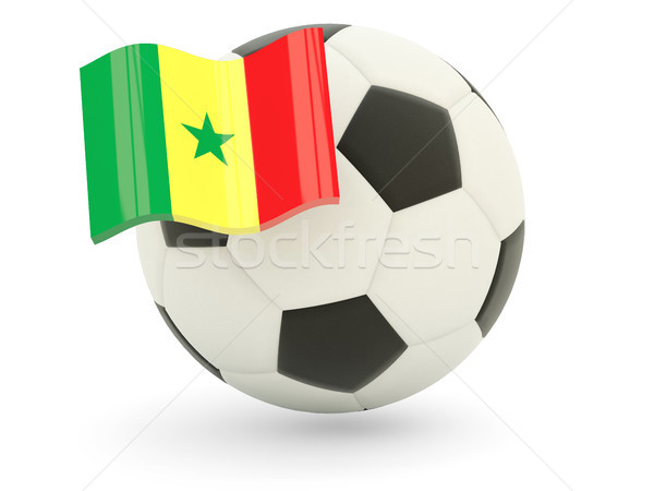 サッカー フラグ セネガル 孤立した 白 スポーツ ストックフォト © MikhailMishchenko