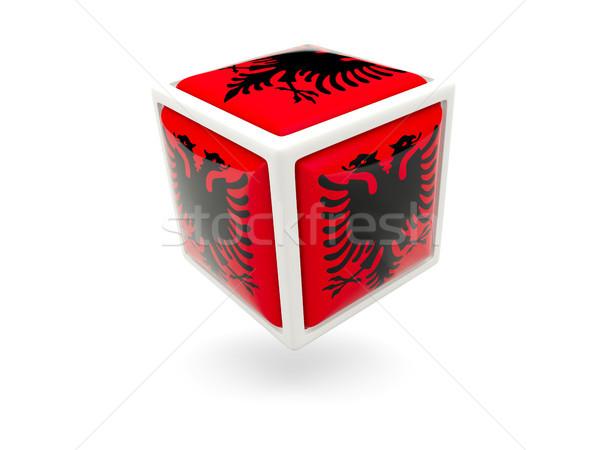 Flag of albania. Cube icon Stock photo © MikhailMishchenko