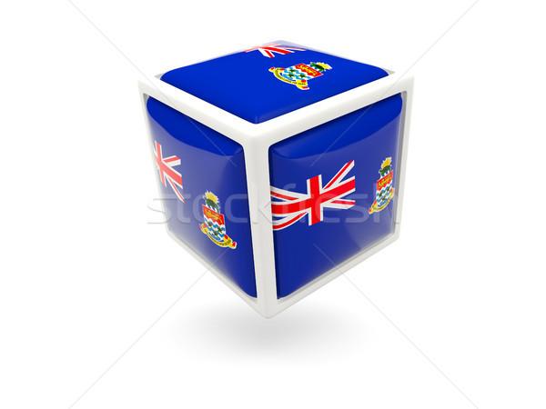 Flag of cayman islands. Cube icon Stock photo © MikhailMishchenko