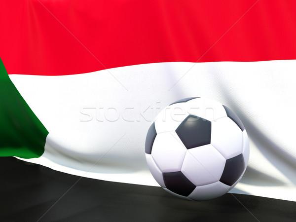 Vlag Soedan voetbal team land Stockfoto © MikhailMishchenko