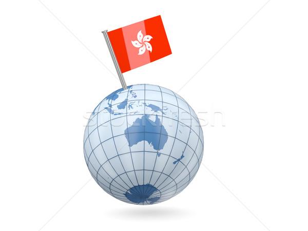 мира флаг Гонконг синий изолированный белый Сток-фото © MikhailMishchenko
