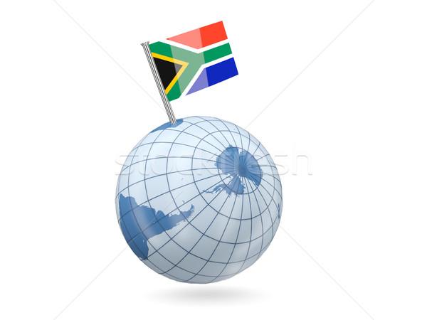 Globe with flag of south africa Stock photo © MikhailMishchenko