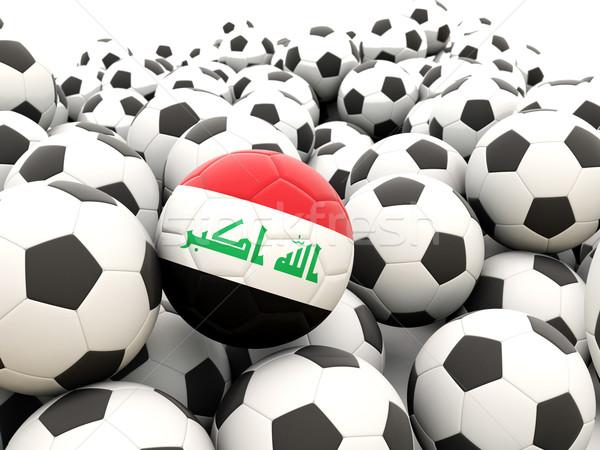 Futbol bayrak Irak düzenli yaz Stok fotoğraf © MikhailMishchenko