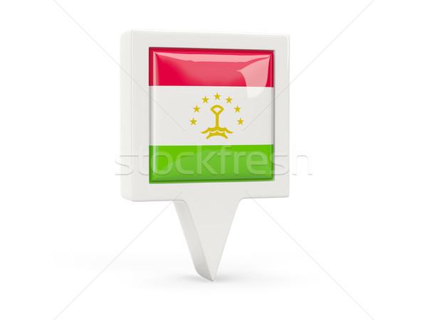 Square flag icon of tajikistan Stock photo © MikhailMishchenko