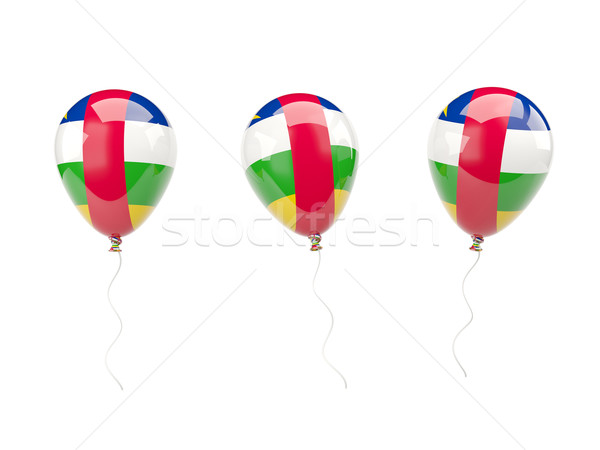 Air balloons with flag of central african republic Stock photo © MikhailMishchenko