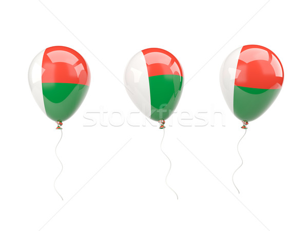 Air balloons with flag of madagascar Stock photo © MikhailMishchenko