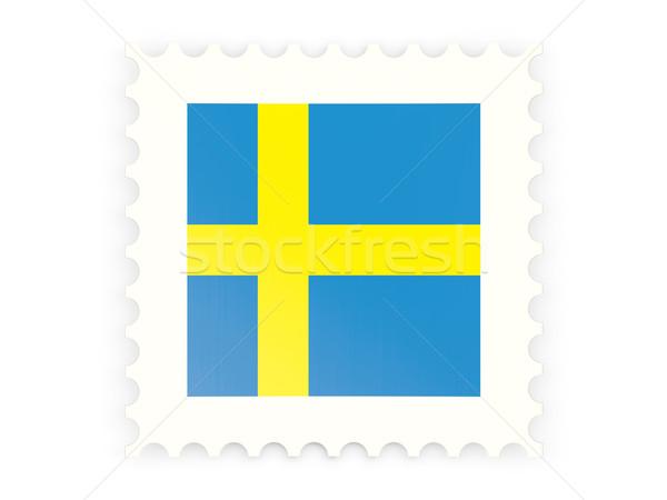 Icon Zweden geïsoleerd witte teken Stockfoto © MikhailMishchenko