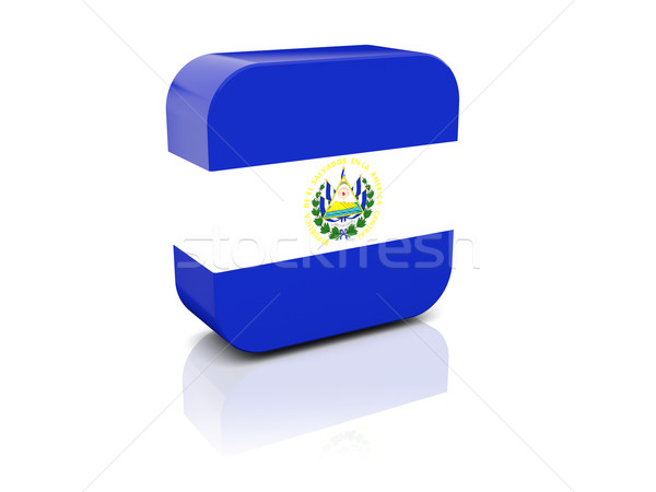 Square icon with flag of el salvador Stock photo © MikhailMishchenko