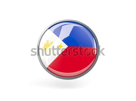 Round icon of flag of philippines Stock photo © MikhailMishchenko