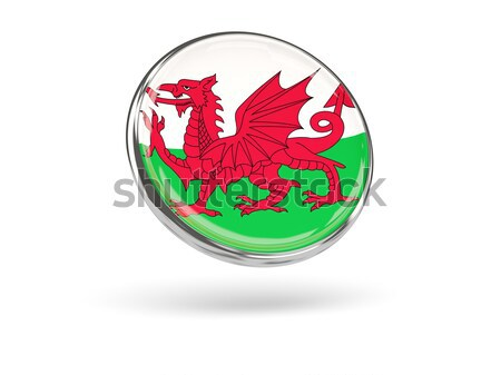 Round icon of flag of wales Stock photo © MikhailMishchenko