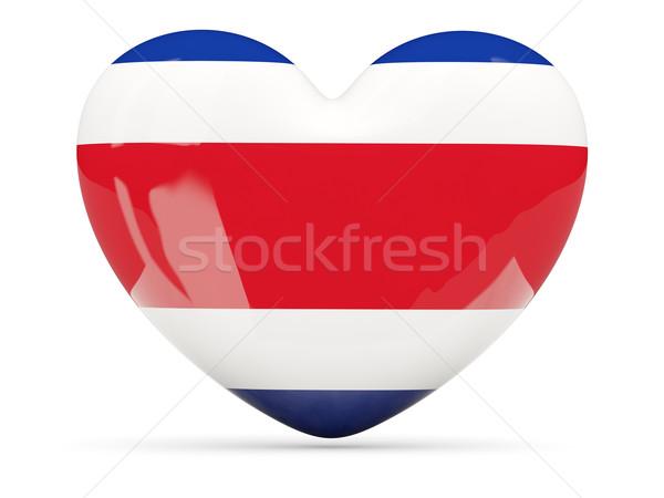 Szív alakú ikon zászló Costa Rica izolált Stock fotó © MikhailMishchenko