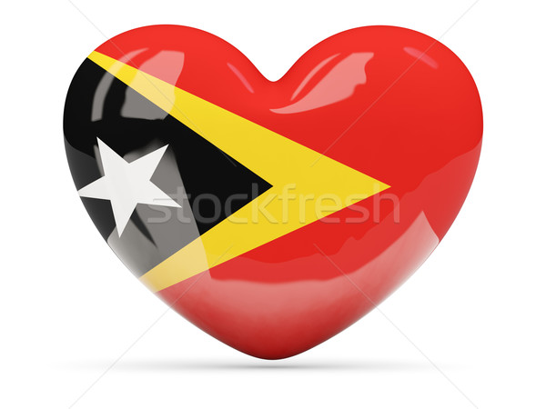 Heart shaped icon with flag of east timor Stock photo © MikhailMishchenko