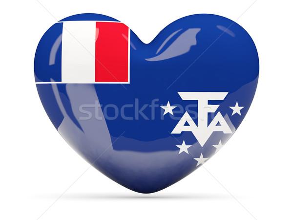 Szív alakú ikon zászló francia déli Stock fotó © MikhailMishchenko