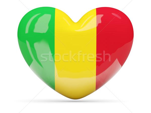 Heart shaped icon with flag of mali Stock photo © MikhailMishchenko