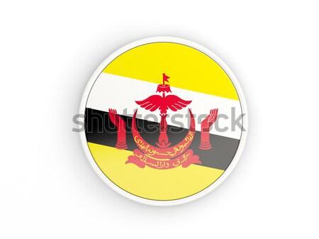 кнопки флаг Бруней металл кадр путешествия Сток-фото © MikhailMishchenko
