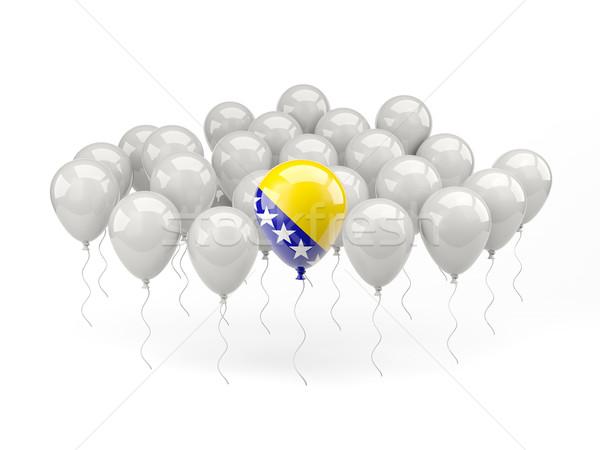 Air balloons with flag of bosnia and herzegovina Stock photo © MikhailMishchenko