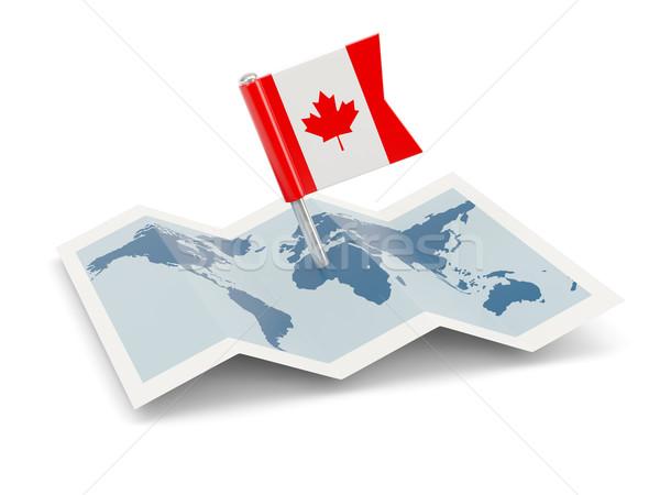 Map with flag of canada Stock photo © MikhailMishchenko
