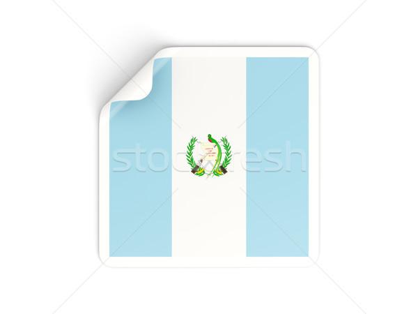 квадратный наклейку флаг Гватемала изолированный белый Сток-фото © MikhailMishchenko
