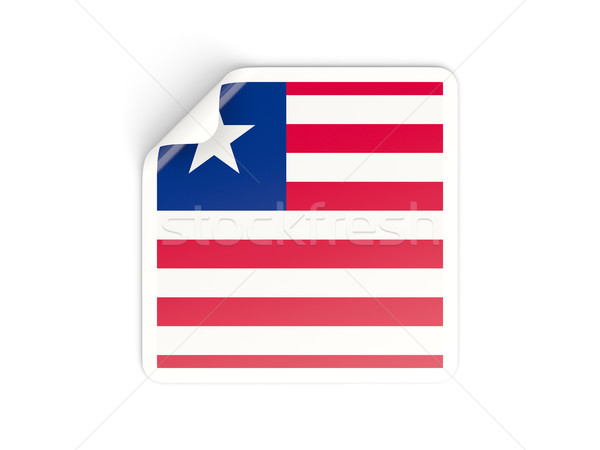 Square sticker with flag of liberia Stock photo © MikhailMishchenko