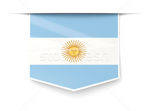 Square label with flag of argentina Stock photo © MikhailMishchenko