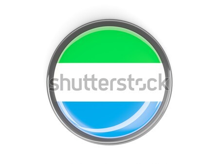 Round button with flag of sierra leone Stock photo © MikhailMishchenko