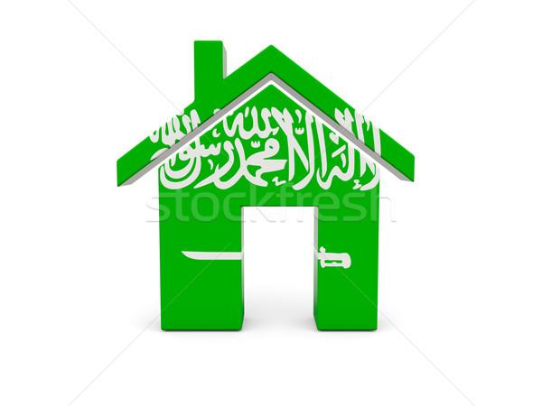 Otthon zászló Szaúd-Arábia izolált fehér keresés Stock fotó © MikhailMishchenko