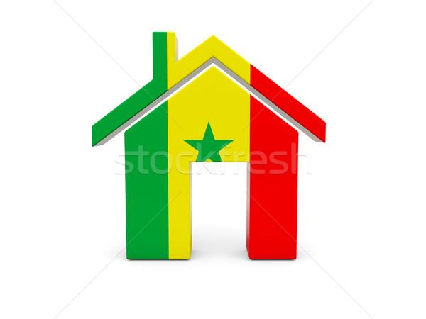 Home vlag Senegal geïsoleerd witte Zoek Stockfoto © MikhailMishchenko