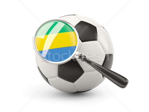 Football with magnified flag of gabon Stock photo © MikhailMishchenko