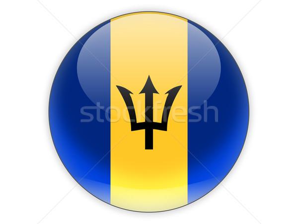 Ikon bayrak Barbados yalıtılmış beyaz seyahat Stok fotoğraf © MikhailMishchenko