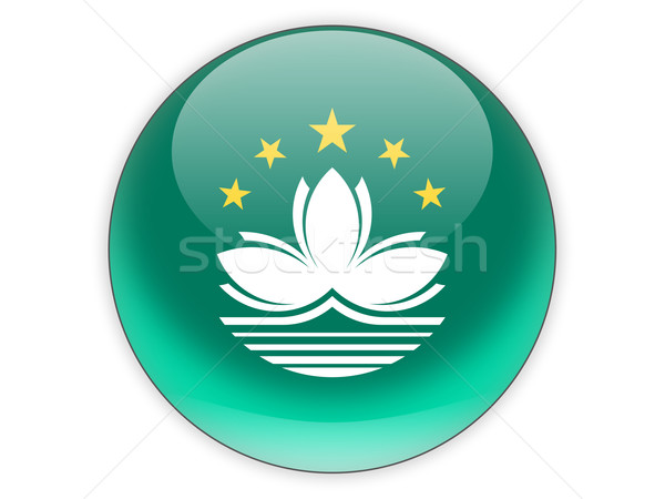 Round icon with flag of macao Stock photo © MikhailMishchenko