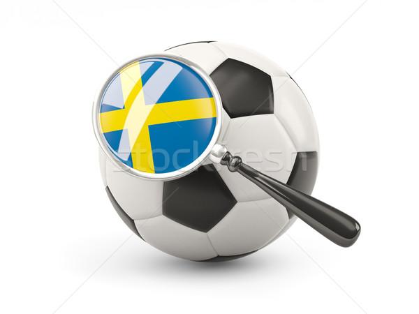 Calcio bandiera Svezia isolato bianco Foto d'archivio © MikhailMishchenko