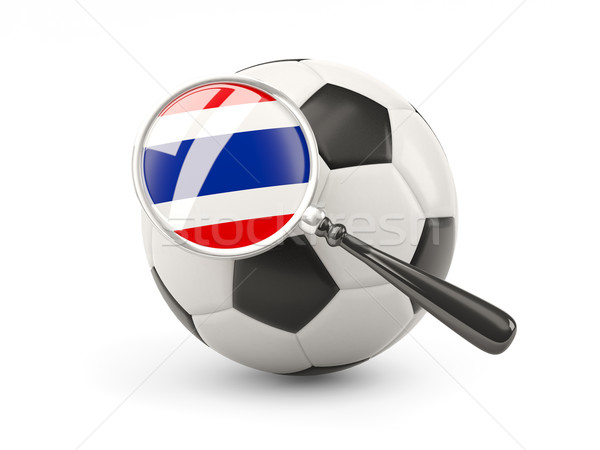 Football with magnified flag of thailand Stock photo © MikhailMishchenko
