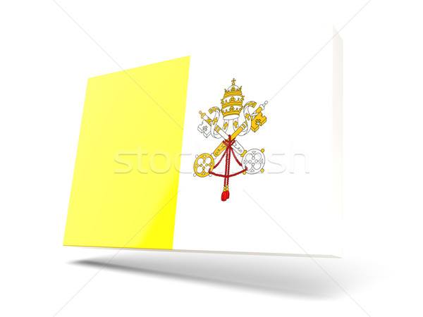 Square icon with flag of vatican city Stock photo © MikhailMishchenko