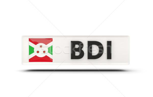 Praça ícone bandeira Burundi iso código Foto stock © MikhailMishchenko