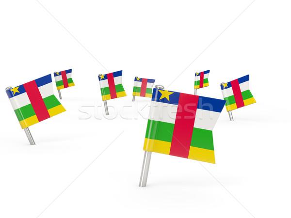 Tér zászló központi afrikai köztársaság izolált Stock fotó © MikhailMishchenko