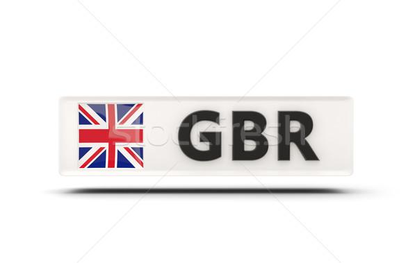 Kare ikon bayrak Büyük Britanya iso kod Stok fotoğraf © MikhailMishchenko