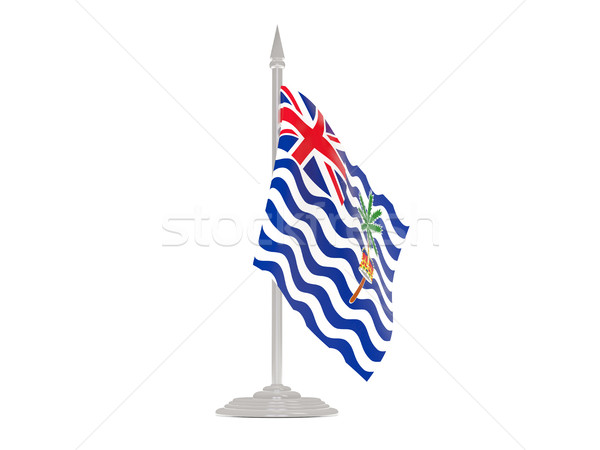 Flag of british indian ocean territory with flagpole. 3d render Stock photo © MikhailMishchenko