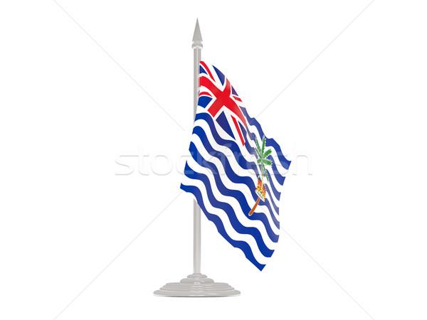 флаг британский индийской океана флагшток Сток-фото © MikhailMishchenko