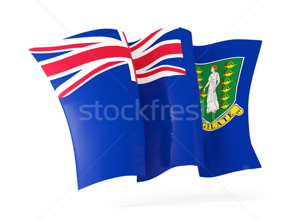 Vlag Virgin Islands brits 3d illustration geïsoleerd Stockfoto © MikhailMishchenko