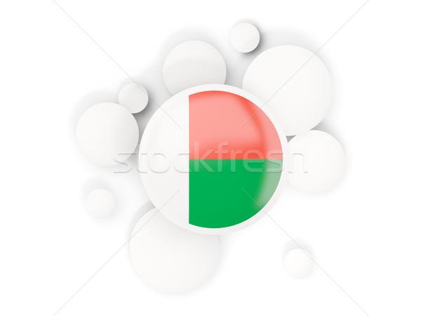 Round flag of madagascar with circles pattern Stock photo © MikhailMishchenko
