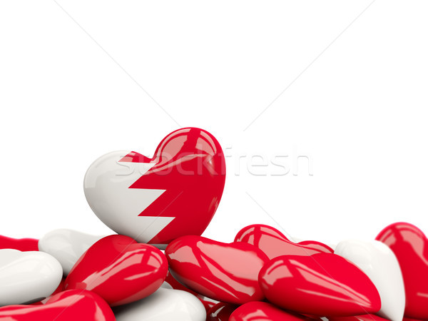 Kalp bayrak Bahreyn üst kalpler yalıtılmış Stok fotoğraf © MikhailMishchenko