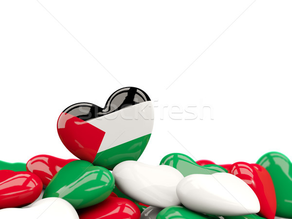Heart with flag of palestinian territory Stock photo © MikhailMishchenko