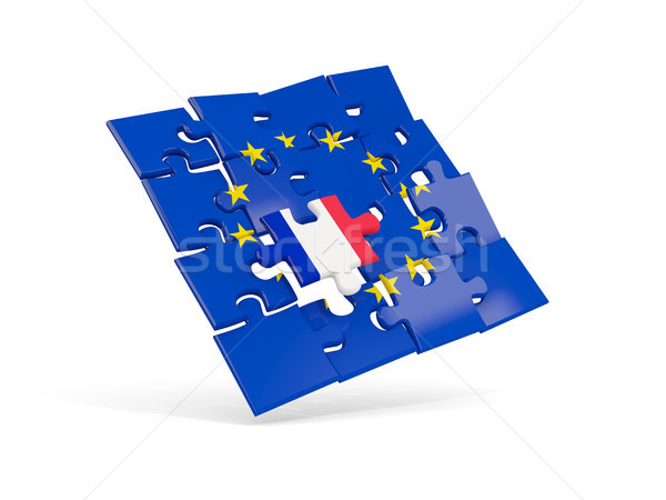 Puzzle pavillon européenne Union France 3d illustration Photo stock © MikhailMishchenko