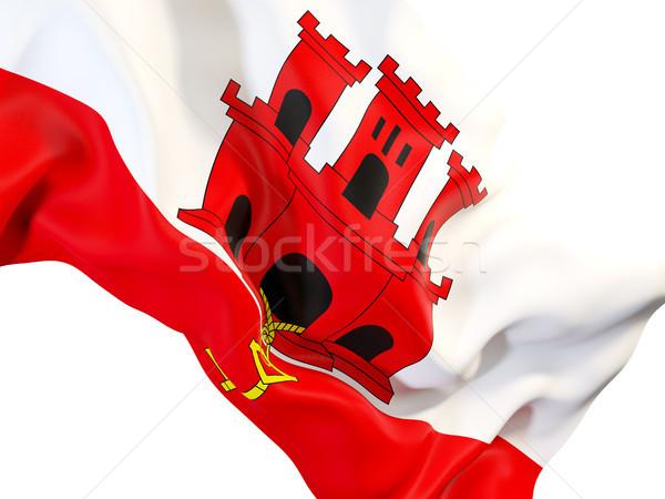Banderą gibraltar 3d ilustracji podróży Zdjęcia stock © MikhailMishchenko