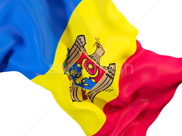 Integet zászló Moldova közelkép 3d illusztráció utazás Stock fotó © MikhailMishchenko